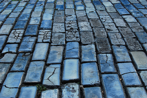 Old San Juan blue cobblestone