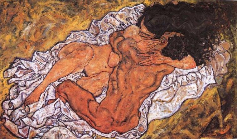El abrazo. Egon Schiele